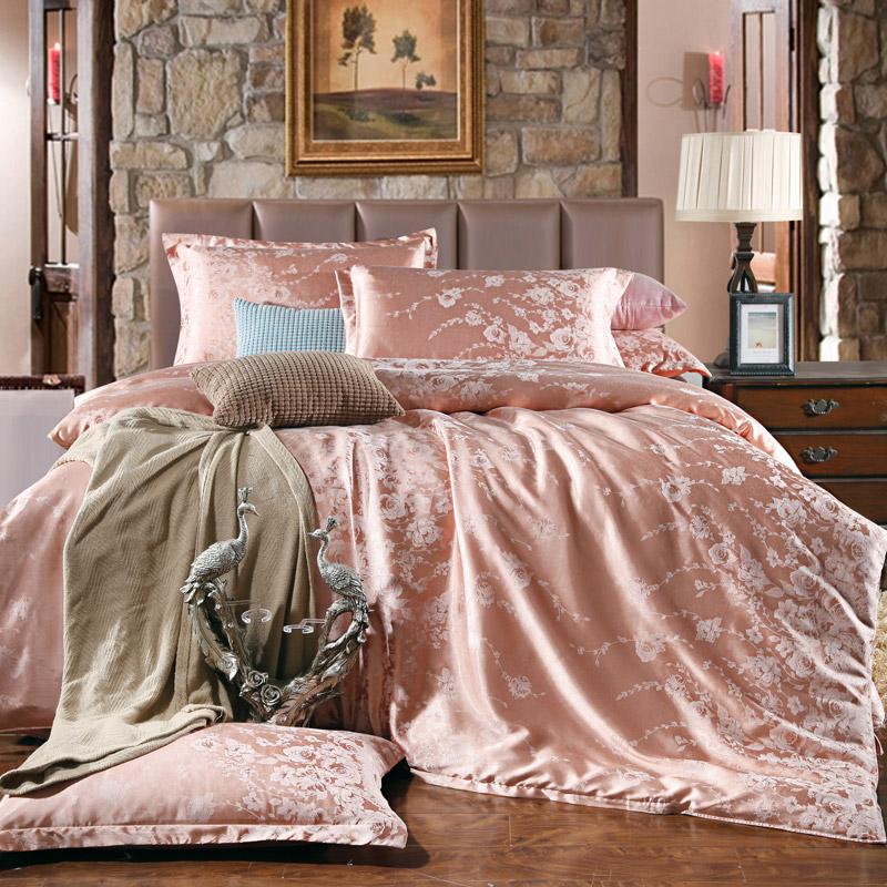 pink satin comforter promotion shop for promotional pink. Black Bedroom Furniture Sets. Home Design Ideas