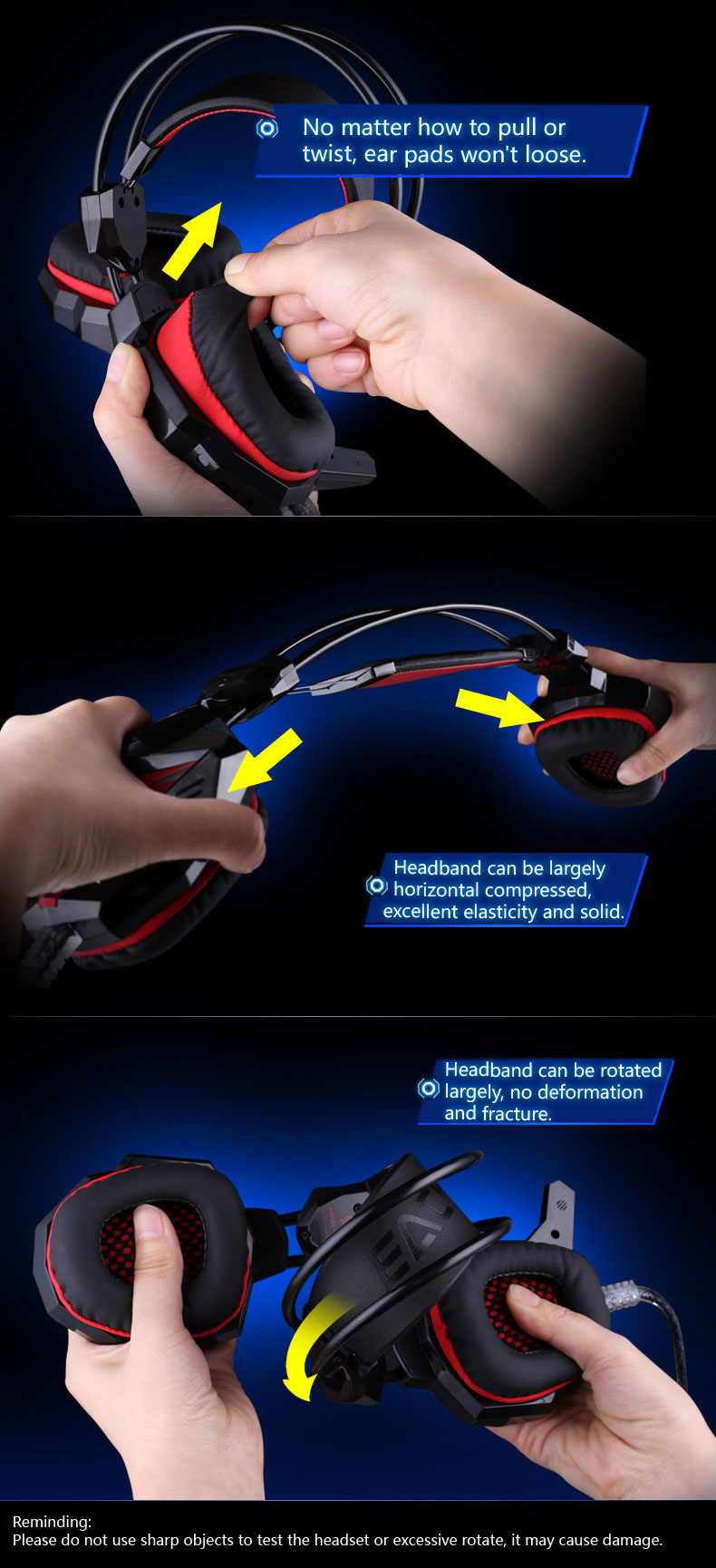 2017 newest headphones headband cover large light headset for computer steam gamer pc game with microphone earbud large earphone