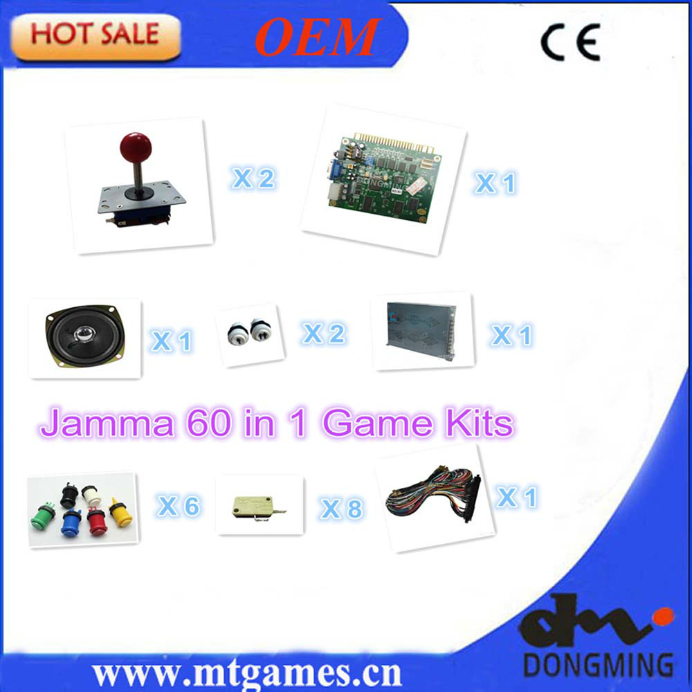 1set Arcade parts Bundles With 60 in 1PCB,16A Power Supply,L Joystick,Push button,Microswitch,Harness,Speaker for Arcade Machine<br><br>Aliexpress