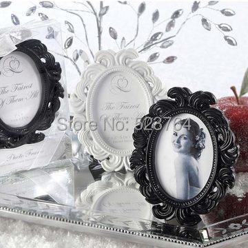 Oval Baroque photo frame Place Card Photo Holder White/Black Color Option(China (Mainland))