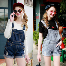 2016 New Fashion Women Jumpsuit Denim Overalls women jumpsuits and rompers Vintage Jeans Overalls
