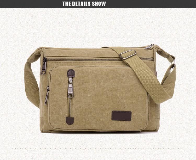 2016 jofeanay Men's Messenger Bags Canvas Shoulder Hand Bag Fashion Men Business Crossbody Bag Printing Brief Travel Handbag