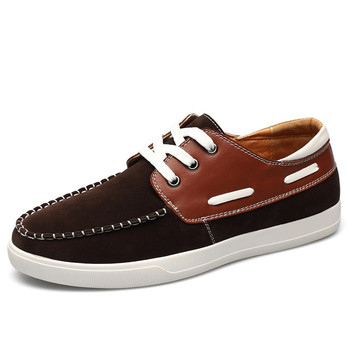 Big Size New Boat Shoes Breathable Comfortable Men Flats With Nubuck Leather Lace Up Driving Shoes For Male c227 65