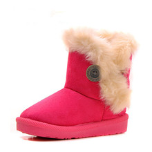 2015 Winter Children Boots Thick Warm Shoes Cotton Padded Suede Buckle Boys Girls Boots Boys Snow