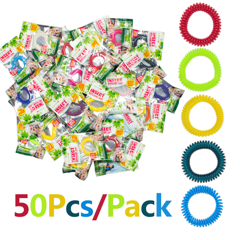 50pcs/Lot Anti Mosquito Bug Pest Repel Wrist Band Bracelet Insect Repellent For Adults & Kids Unisex wristband pulseira feminina(China (Mainland))