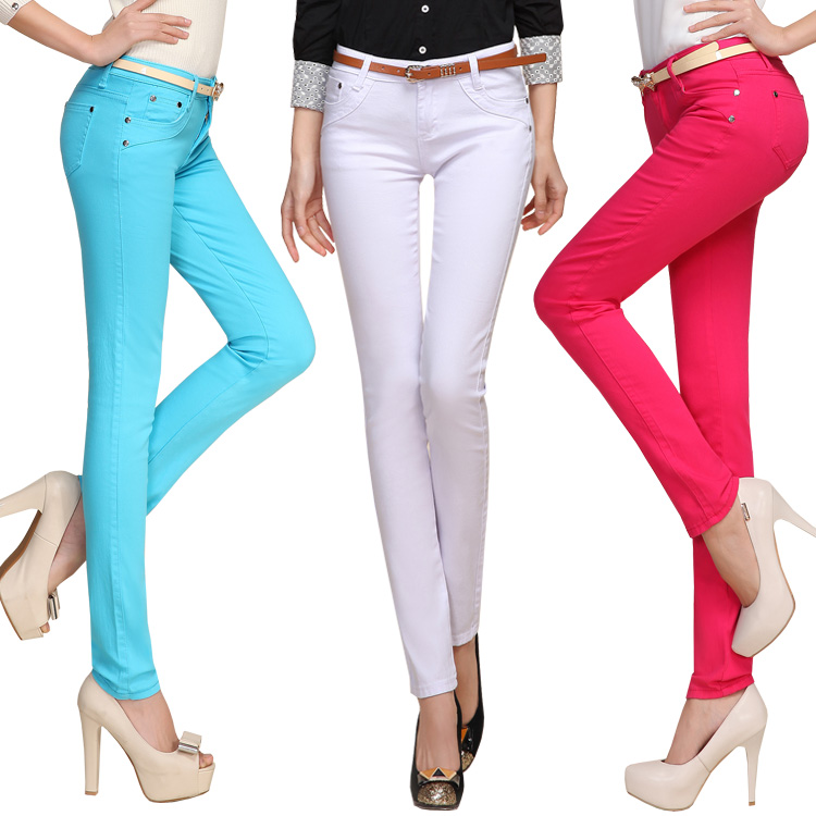 Women S Colored Skinny Jeans Photo Album - Reikian