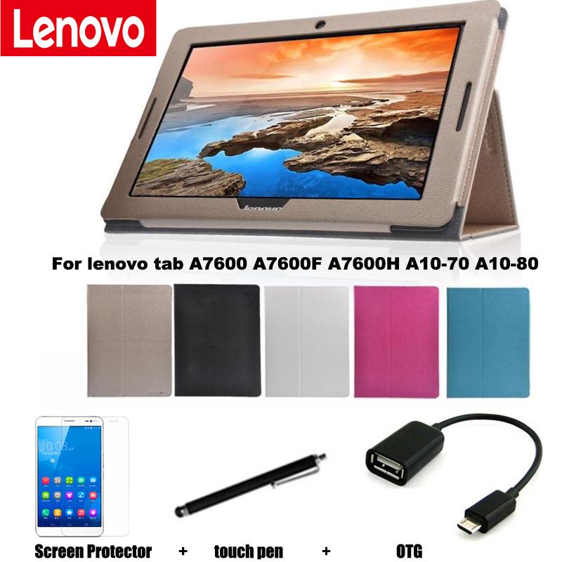 Защитный Кожаный Чехол Защитной Оболочки/Кожи Для Lenovo tab A7600 A10-70 A7600-F A7600-H A10-80 Чехол 10.1 ''Tablet PC покоя