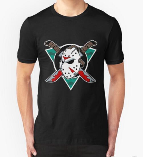 2016 new mens t shirt summer style cotton men's T-shirt Crystal Lake Ice Hockey short sleeve clothes free shipping(China (Mainland))