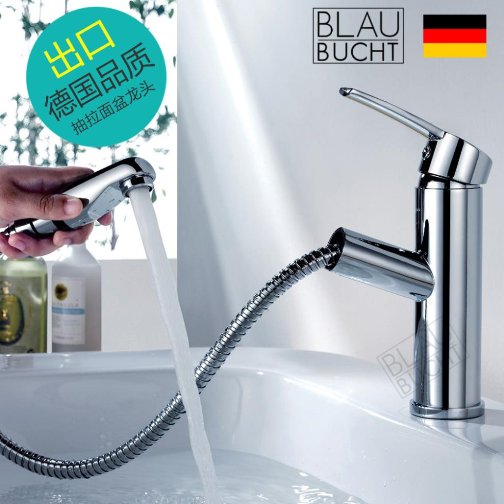 2015 Limited Grifos Para Lavabos Faucet Bathroom Blaubuc For Ht Copper Hot And Cold Pull Type Basin Faucet Shampoo Bed Drawer(China (Mainland))