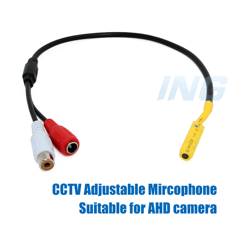 Adjustable High Quality Mini Audio CCTV Microphone Surveillance Wide Range Sound Pickup Audio Monitor for Security Camera(China (Mainland))