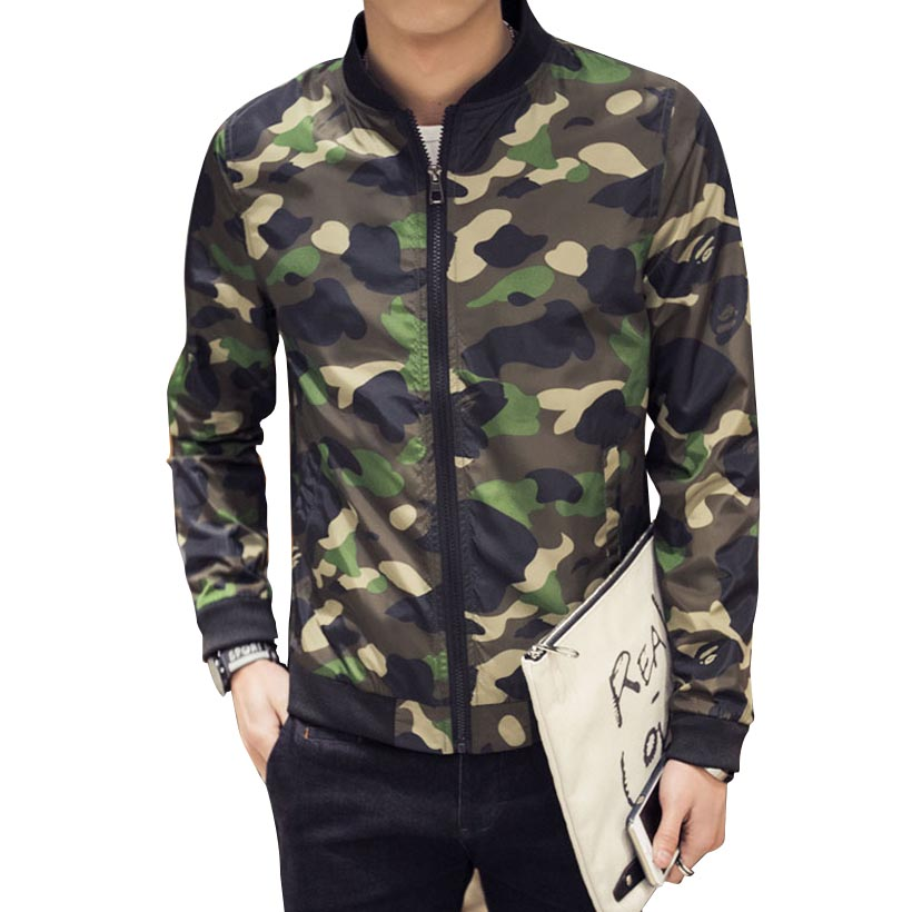 2016 Spring Autumn Fashion Brand Outdoor Camouflage Jacket Men Long Sleeve Stand Callor Baseball Jacket Manteau Homme 4XL 5XLОдежда и ак�е��уары<br><br><br>Aliexpress