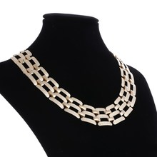 Buy ZOSHI Brand 2017 Alloy Big Statement Necklace Vintage Punk Gold Color Choker Necklace & Pendants Party Accessories Wholesale for $2.76 in AliExpress store