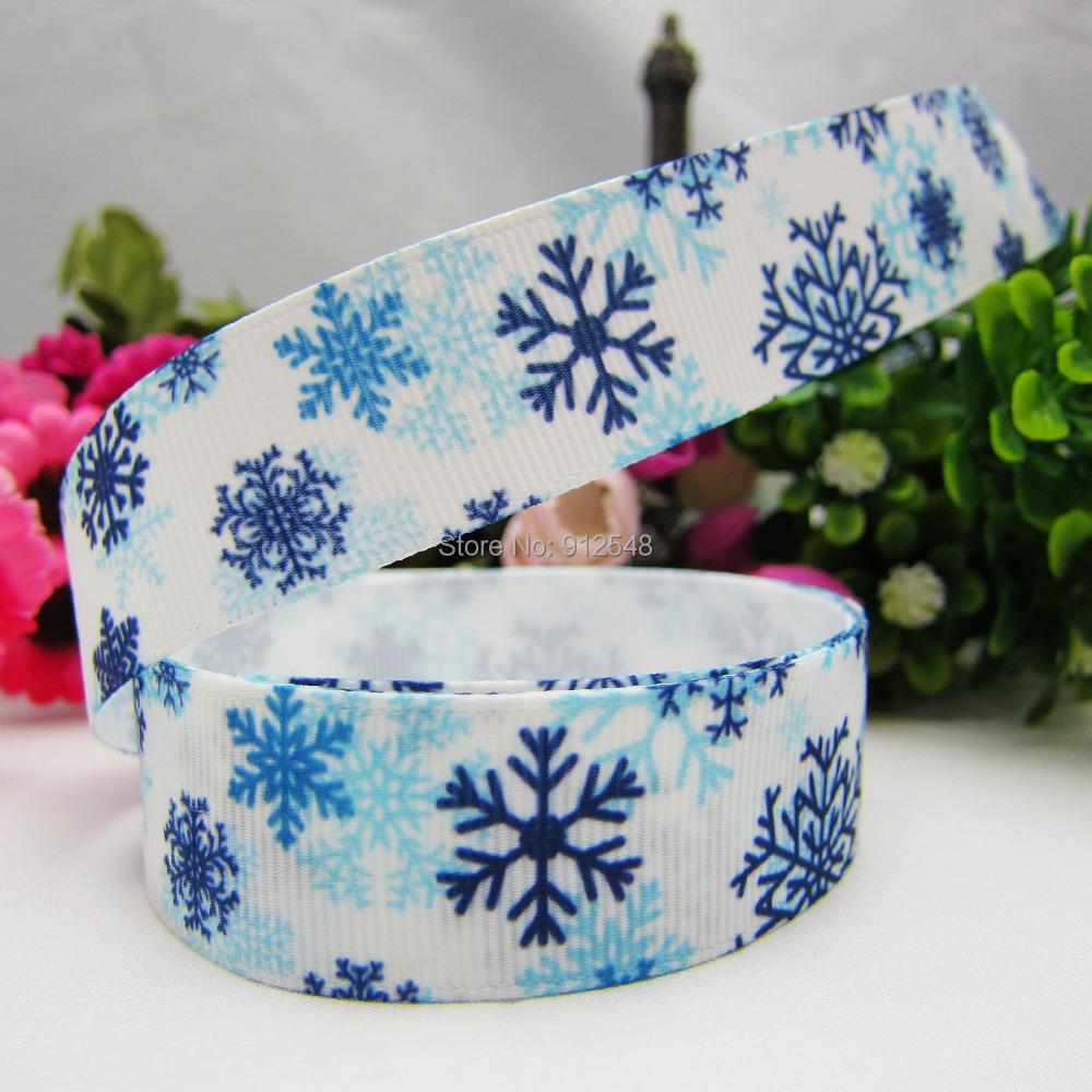 Гаджет  XW9211,22mm Christmas snowflake Series Printed grosgrain ribbon, DIY handmade materials,headwear accessories None Дом и Сад
