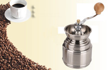 NEW Manual Spice Bean Coffee Grinder Baby Rice Stainless Steel Burr Grinder with Adjustable Ceramic Core Free Shipping(China (Mainland))