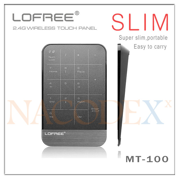LOFREE MT-100 Slim Multi-touch 2.4GHz Wireless Mini Touchpad with Lithium Battery for Windows 8 Android TV Box(China (Mainland))