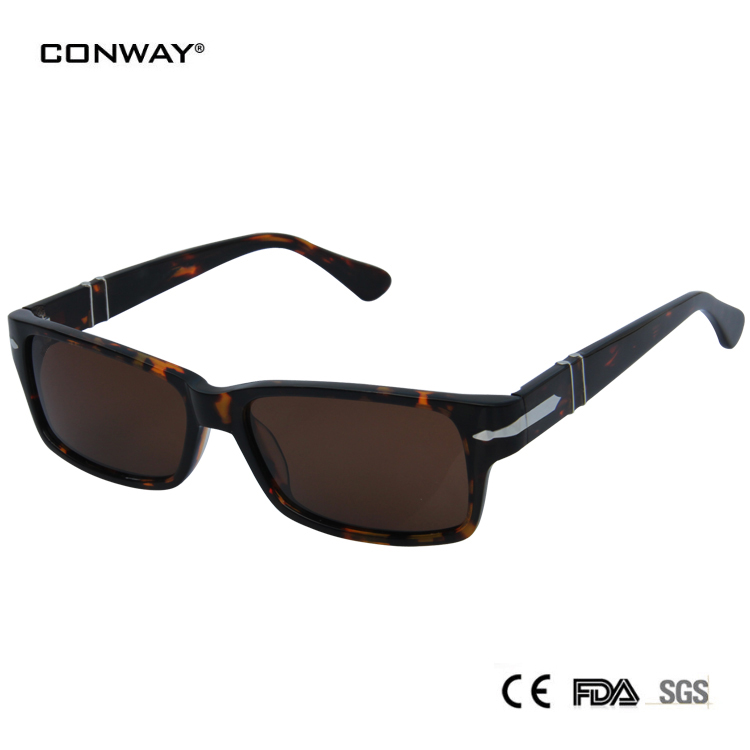 sunglases man acetate high quality eyewear personal sunglasses brand designer sunglasses polarized lens demi color(China (Mainland))