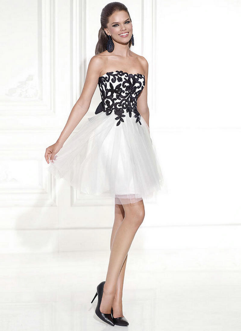 black and white cocktail dresses online eligent prom dresses