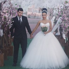 Buy Vestido De Noiva Ball Gown Wedding Dresses Pearls Turkey Bridal Gowns Princess Wedding Gowns Weeding Weding Bridal Bride Dresses for $156.00 in AliExpress store