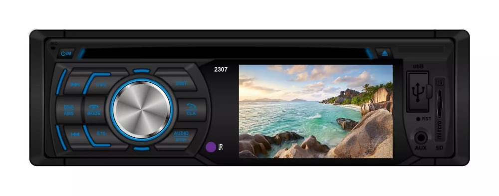 "Universal 3"" Car Stereo Audio Video 1 din DVD Player FM AM Bluetooth SD USB AUX Rear View IR Remote Control Retail Packing(China (Mainland))"