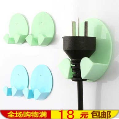 Home Furnishing daily supplies stores new practical plug hook (2 Pack)(China (Mainland))