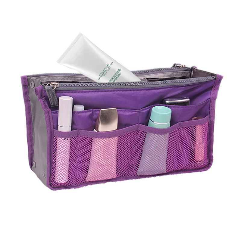 Women &Girl's Multifunctional Solid Cosmetic Bag Zipper Make Up Bag Storage Bag for small part(China (Mainland))