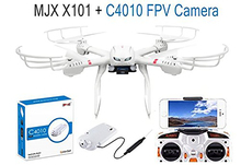 MJX X101 2.4G RC Drone 6 Axis Gyro Supper Large Quadcopter UAV With Gimbal + MJX C4010 1.0mp 720 HD FPV Real Time Camera