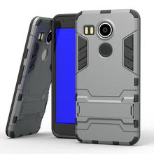 LG Nexus 5X накладка на заднюю часть — жесткая броня, чехол с держателем подставкой