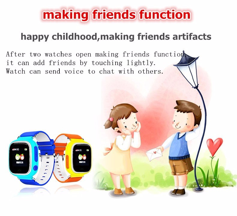 image for 100% Original Q90 Touch Screen WIFI Positioning Baby Smart Watch Child