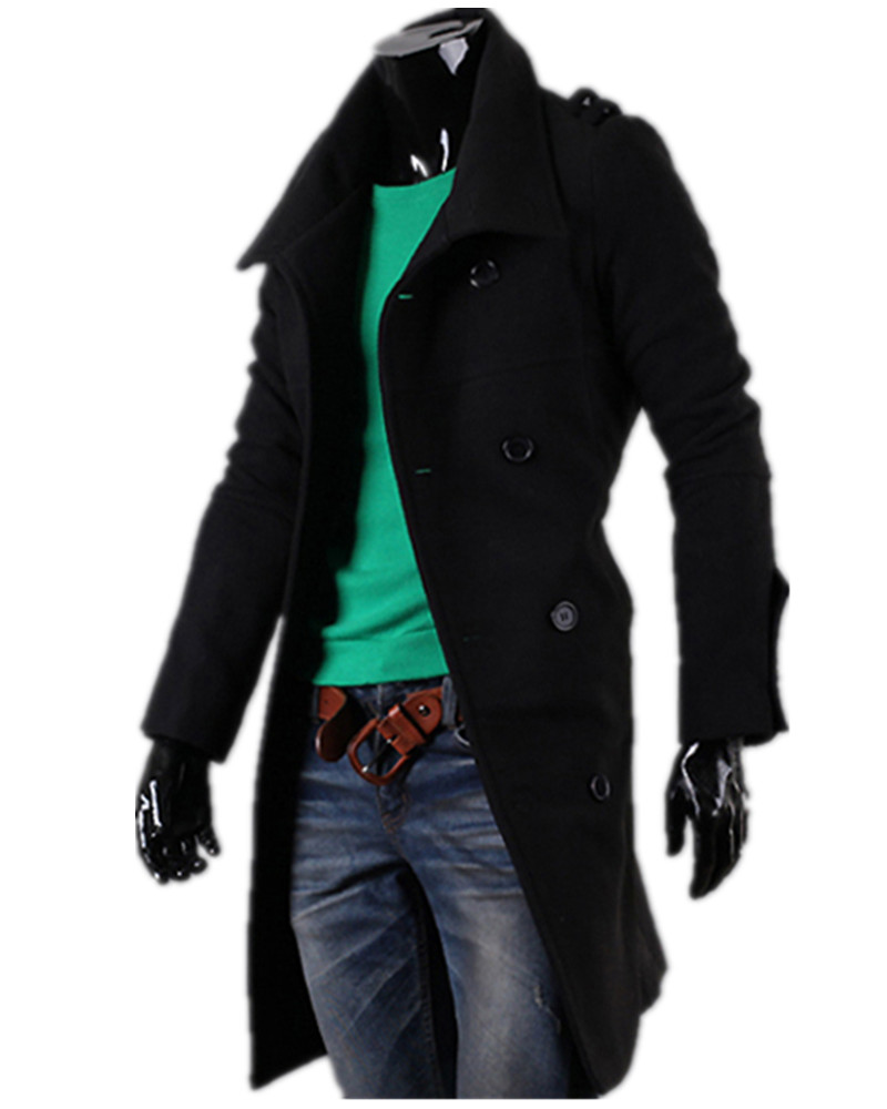 Здесь можно купить  New Fashion Single Breasted Winter Men Trench Coats Long Slim Fashion Styish Woolen Men Trench for 2 Colors Choose SMTFZ-284  Одежда и аксессуары