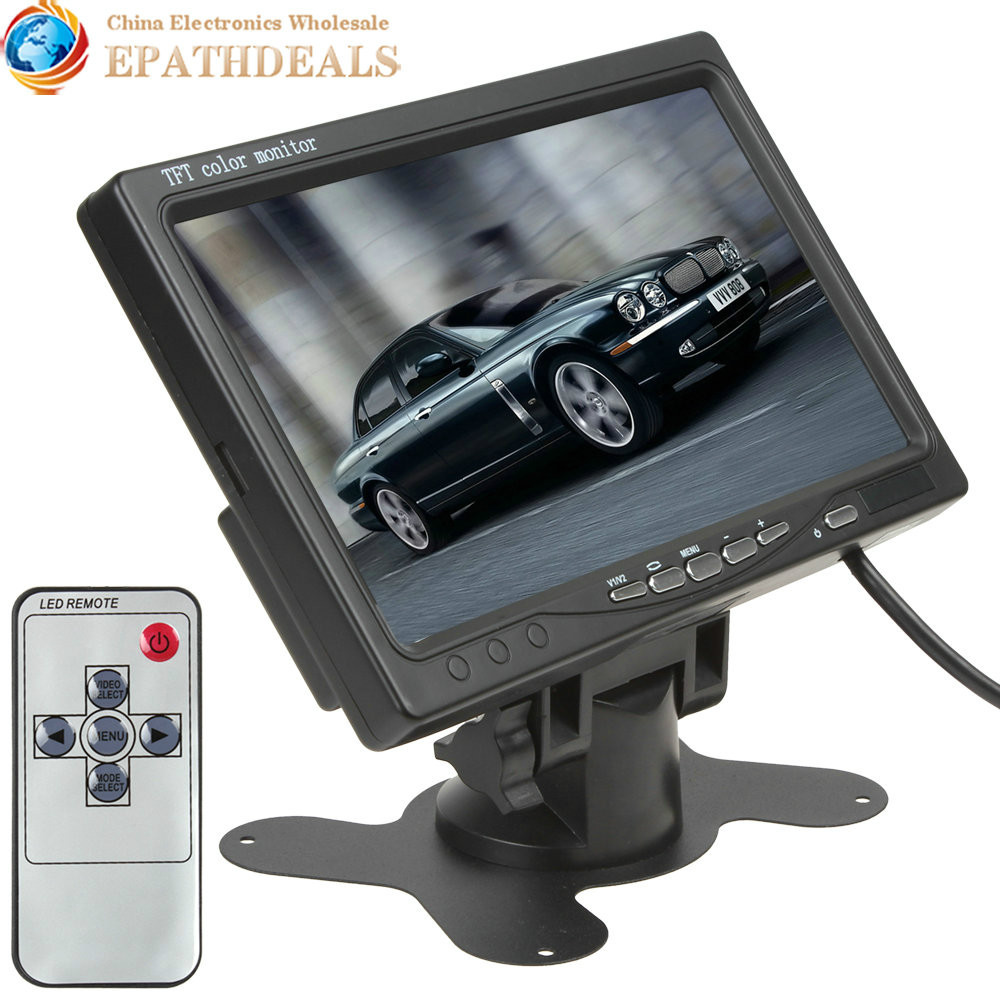 7 Inch Color TFT LCD Headrest Car Rear View Monitor 7'' Parking Rearview 2 Video Input Reverse Backup Camera DVD - EPATHDEALS China Electronics store