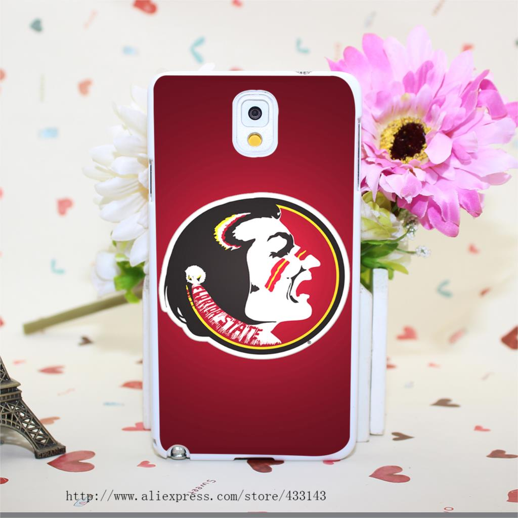florida state seminoles logo Hard White Cover for Samsung Galaxy A3 A5 A7 A8 Note 2 3 4 5 Case Protect(China (Mainland))
