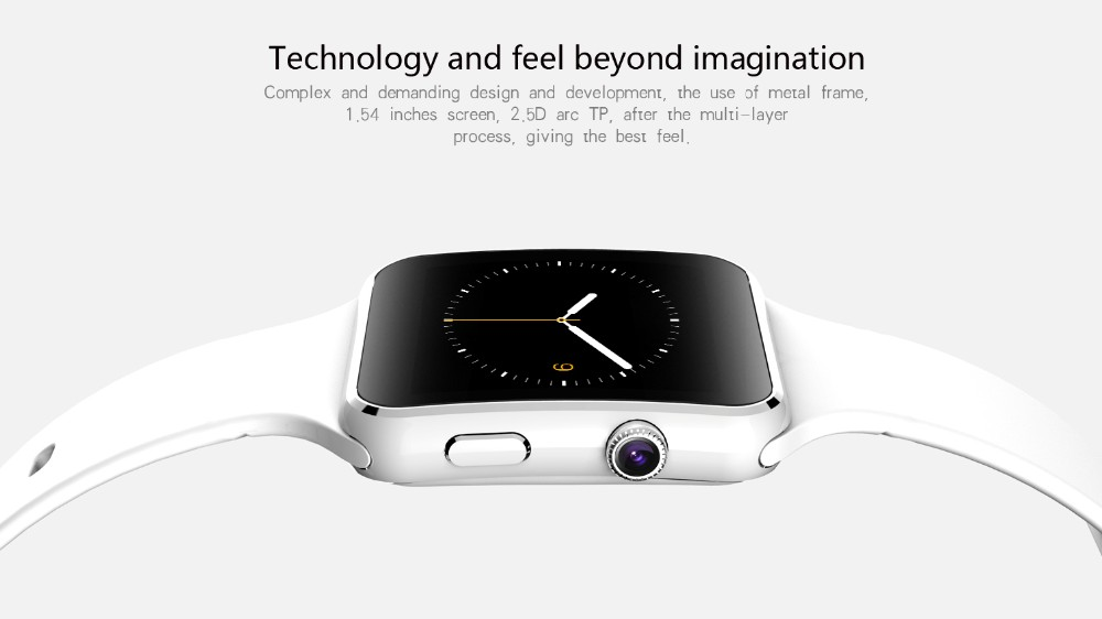 2016 New X6 Smart Watch Phone Bluetooth Wrist Smartwatch With Camera Support SIM TF Card For