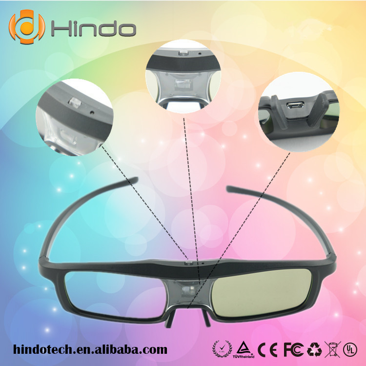 3D Glasses for DLP Link Projectors Active Shutter Glasses For Acer/BenQ/Optoma/View Sonic/VIVITEK/sharp(China (Mainland))