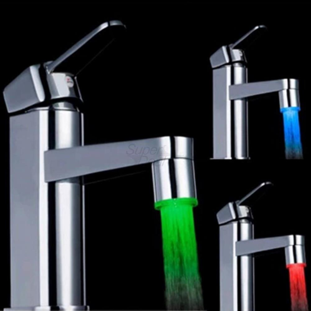 1pcs Water Faucet Light LED 7 Colors Changing Glow Shower Stream Tap FreeShipping Brand New