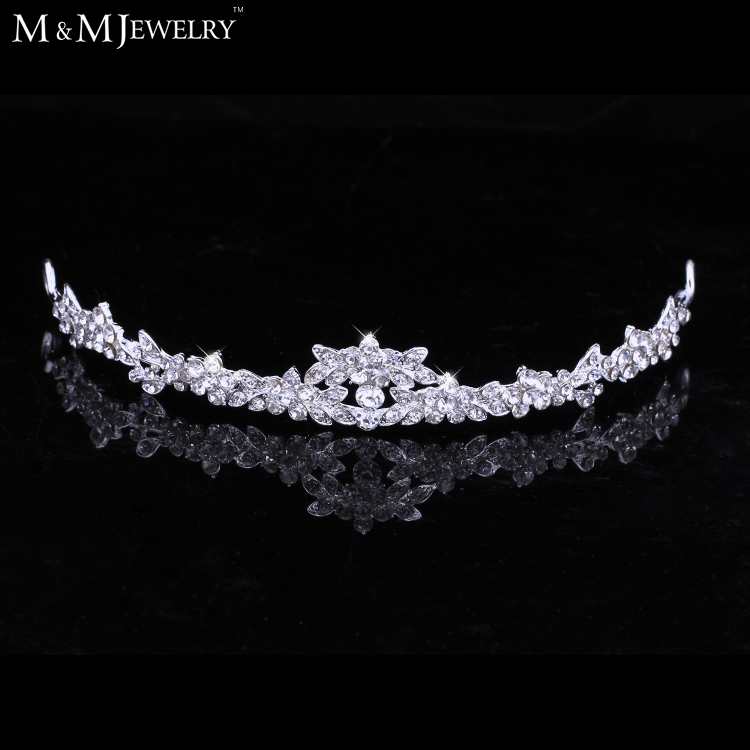 Hot Selling Czech Rhinestone Crystal Crown Tiara Bridal Hair Jewelry Wedding Hair Accessories Free Shipping HG001(China (Mainland))