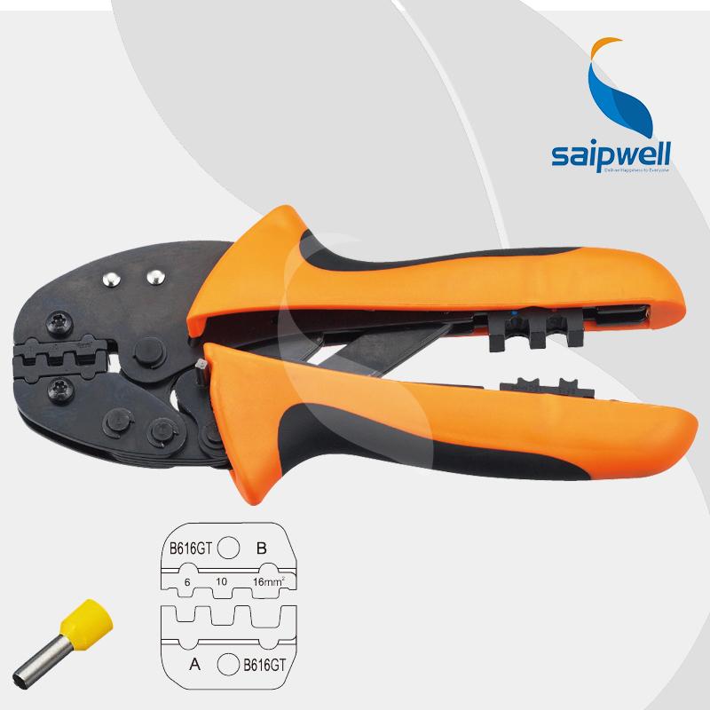 6, 10, 16mm Capacity  Mini Type Super Strength Saving Crimping Plier / 10-6AWG  Hand Tool Crimper  (SP-FSB-616GT)<br><br>Aliexpress