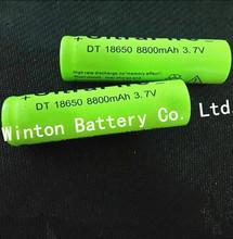10 PCS/LOT 18650 battery  8800mAh 3.7V li-ion Battery 18650 rechargeable Battery