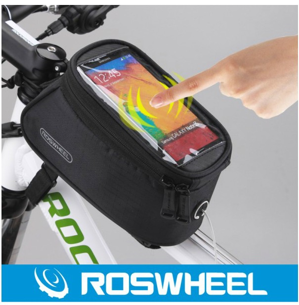 Roswheel Waterproof Outdoor Cycling Mountain Road Bike Bicycle bag Frame Front Top Tube Bag Pouch PVC for Cell Phone 5.5 inches(China (Mainland))