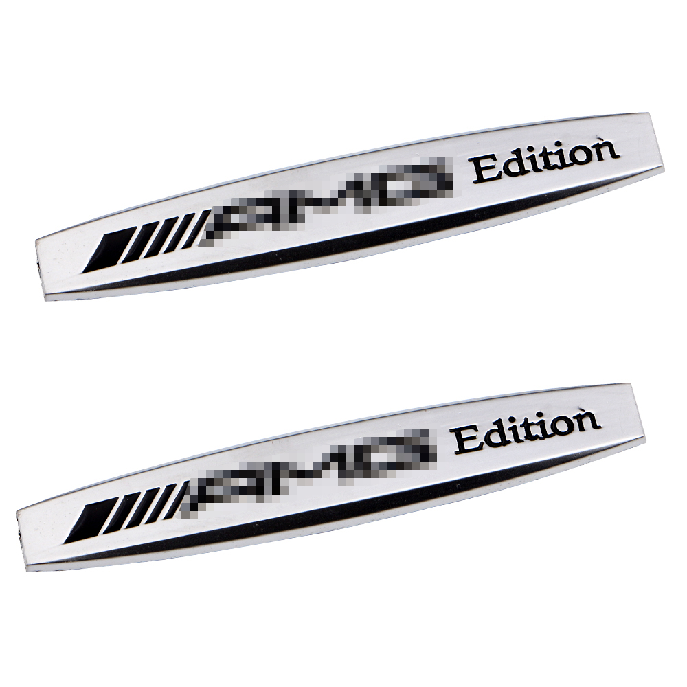 Hot Selling!! 2Piece/lot Car Fender Labeling Standard Auto Modified Stickers Metal Car Logo Mark For AMG(China (Mainland))