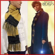 High Quality Fantastic Beasts And Where To Find Them Winter Scarf Stylish Warm Blanket Tassels Men Women Yellow&Black Scarf(China (Mainland))