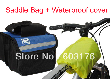 Free Shipping Outdoor Road/Mountain Bicycle Frame Pannier Bike Front Tube Saddle Bag Attach Waterproof Rain Cover