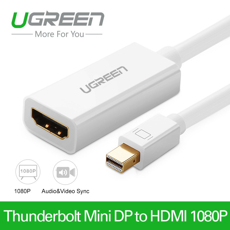 Ugreen High Quality Thunderbolt Mini DisplayPort Display Port DP to HDMI Adapter Cable For Apple Mac Macbook Pro Air(China (Mainland))
