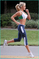 Капри женщин работает спортивная йога штаны колготки высокой талией обрезать леггинсы Фитнес