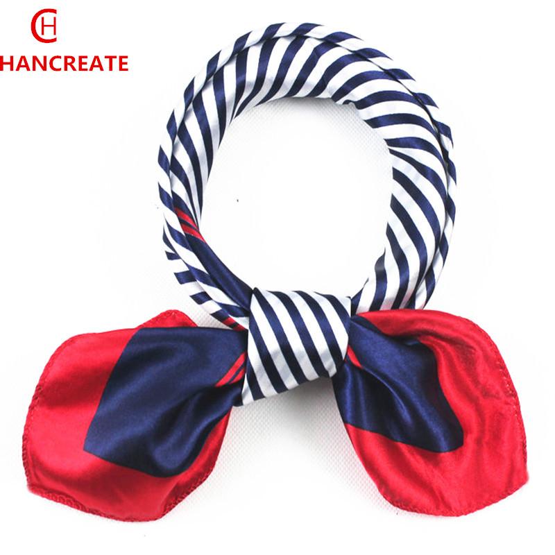 Wholesale 2017 hancreate womens small Square fashion collar scarf bag wraps Spring summer neckerchief scarves 50*50cm headband(China (Mainland))