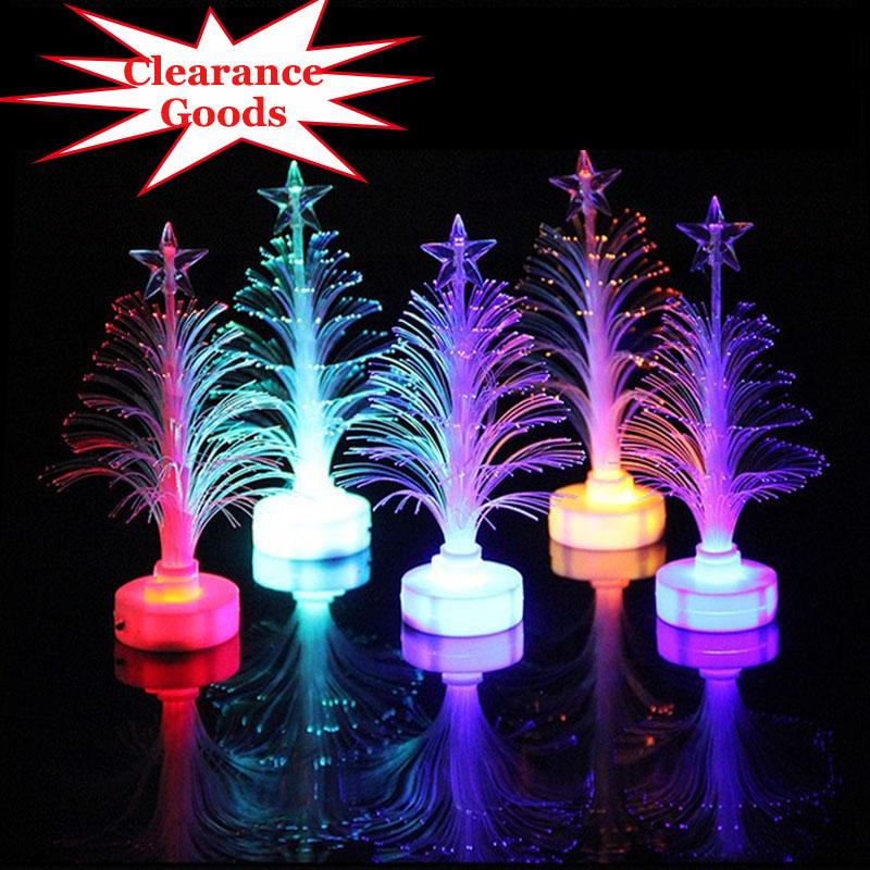 Clearance!!!Christmas Decoration Led Fiber Optic Lantern Christmas Tree Automatically Flashing Colorful Night Lights(China (Mainland))