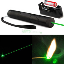 Promotion! 10000MW Green Laser Pointer , Laser Pen , Flashlight style , adjustable burn match +4000Mah 18650 Battery + charger(China (Mainland))