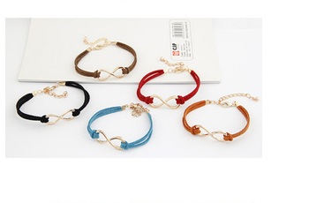 Min. order $9 (mix order) Accessories mix match skin chain 8 suede leather cord bracelet
