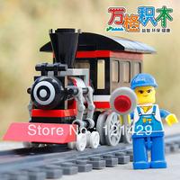 Red Train Wange 26093N 90pcs building blocks 3D DIY educational toys Children birthday gift Free Shipping