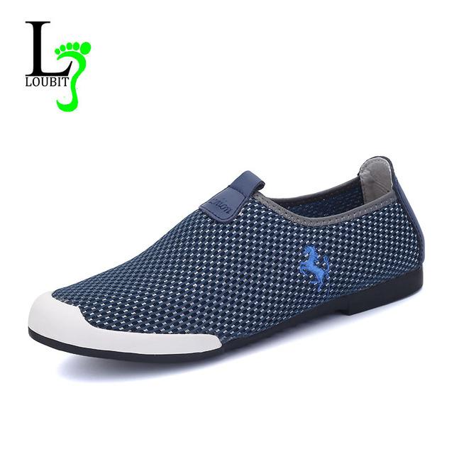Мужчины обувь 2016 лето свободного покроя обувь мода удобные спортивные ботинки дышащая ...