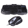 USB Wired Gaming Keyboard Pro PC Gamer Keyboard Mouse Keycaps Backlight Mouse Combo for LOL Dota